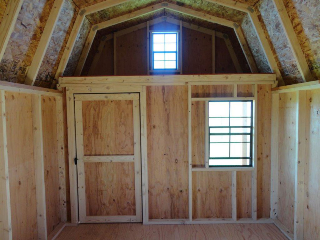Interior of High Barn Cabin by Clearwater Barns