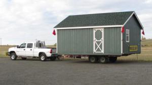 Pre-assembled storage sheds